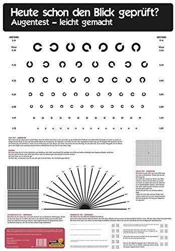 Poster Sehtest: Poster mit den gängigsten Testmethoden zur Kontrolle der Sehstärke