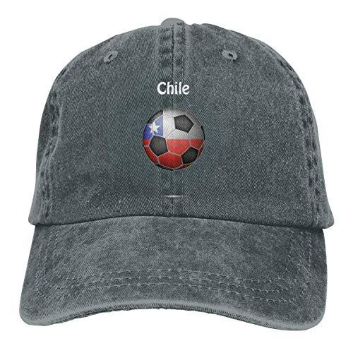 Yaxinduobao Gorra Vaquera Chile Flag Soccer Football Men Women Vintage Adjustable Dad Sun Hat Deep Heather