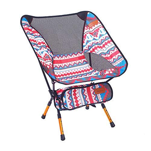 ZHHAOXINFC Draagbare opvouwbare campingstoel, buiten, lichtgewicht ontwerp met een duurzame schoudertas om comfortabel mee te nemen met de rust van uw strand, camping en festival Essentials lichtgewicht