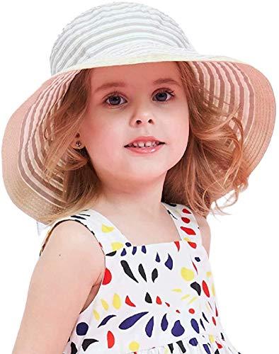 DRESHOW Baby Jungen Mädchen Kinder Große Krempe Sonnenschutzhut Faltbare Strand Sonnenhüte für Mädchen