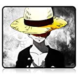 One Piece Mouse Pad Anime Gaming Mouse Pad 9.8X11.8X0.12 Inch Stitched Edges Waterproof Mousepad Pixel-Perfect Mouse Mat