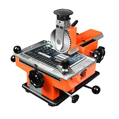 Manual Nameplate Metal Label Stamping Printer Machine Marking Machine for Metal (No.6 Codeword Plate)