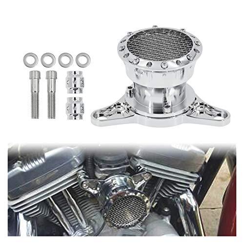 Motocicleta Velocidad Pila de Filtro de Aire Ingesta de la Ingesta de Aluminio para 1200 Custom 883 XL883N (Color : A)