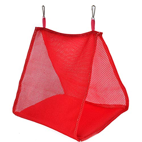 YITON Bird Nests Red Soft Mesh Bird Cage Parrot Hammock Breathable Hanging Bed Cage Pet Supplies Swing Tent Nest House 2Pcs M