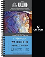 """Canson Artist Series Watercolor Pad, 5.5"""" x 8.5"""" Side Wire [並行輸入品]"""