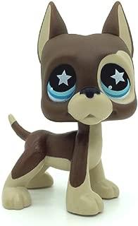 ZAD Littlest Pet Shop Great Dane Dog Puppy Brown Chocolate Star Blue Eyes LPS #817