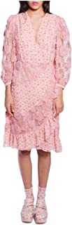 Anna Sui Women'S Blush Rosebuds & Embroidered Tulle Dress