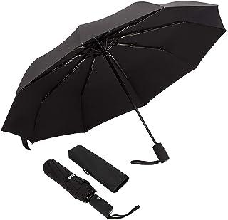 Parapluie 10 rips, Parapluie Pliant pour Homme & Femme, Automatique Parapluie Anti tempete, Compact Parapluie de Poche