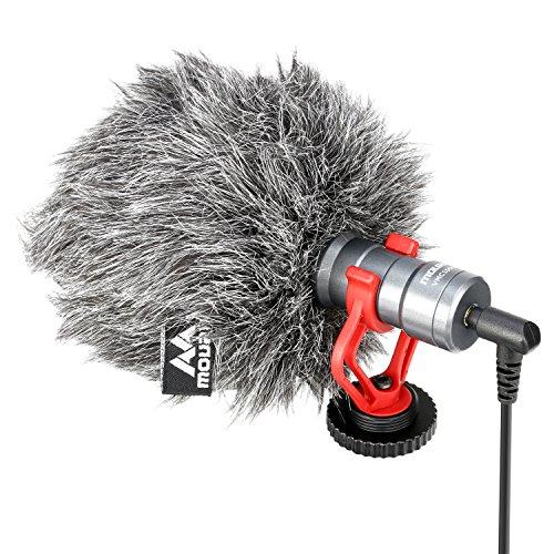 Microfono Video, Mouriv Youtube Vlogging Livestream registrazione shotgun microfono per iPhoneX 8 7 Andorid Smartphone Huawei DJI Osmo mobile 2, per Zhiyun Smooth Q Feiyu Vimble Canon Nikon Sony Dslr