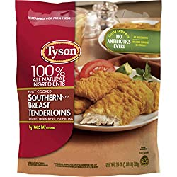 Tyson Fully Cooked Southern Style Chicken Breast Tenderloins, 25 oz (Frozen)