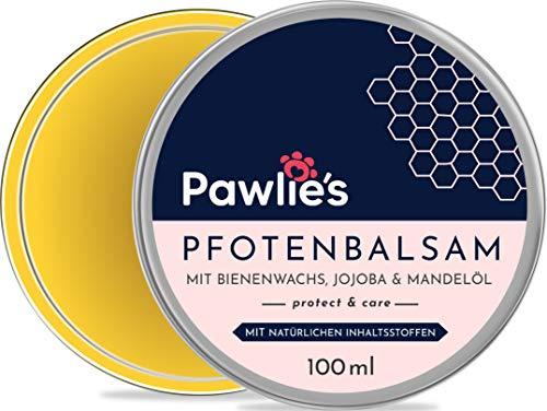 Pawlie's Pfotenbalsam Hund mit Bienenwachs & Bio Jojobaöl für Sommer & Winter | Pfotenschutz Hund, Pfotenpflege Hund, Pfotencreme, Pfotensalbe, Paw Balm | Perfekter Schutz für Hunde & Katzen