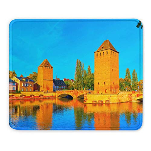 France Alsace Strasbourg Tapis de Souris Souvenir Cadeau 7,9 x 9,5 po Tapis en Caoutchouc de 3 mm