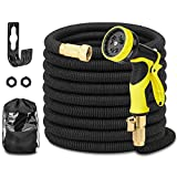 Hermard Garden Hose, Expandable 50FT Water Hose, Flexible Gardening Hose with Brass Connectors, Leakproof No Kink Expanding Lightweight Watering Hoses Pipe …