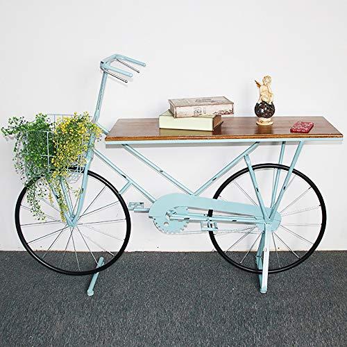 JJDSN Bloemenstandaard American Country Bicycle Set Up woonkamer fotografie schieten rekwisieten bodemstandaard industriële wind smeedijzer ornamenten