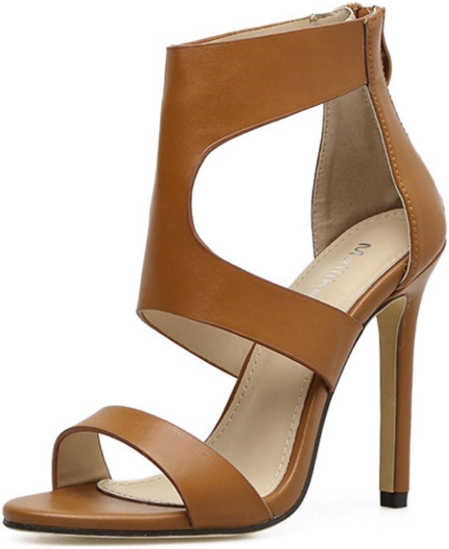 IINFINE Women's Buckles Peep Toe Ankle Straps High Heels Evening Prom Satin Party Dress Sandals