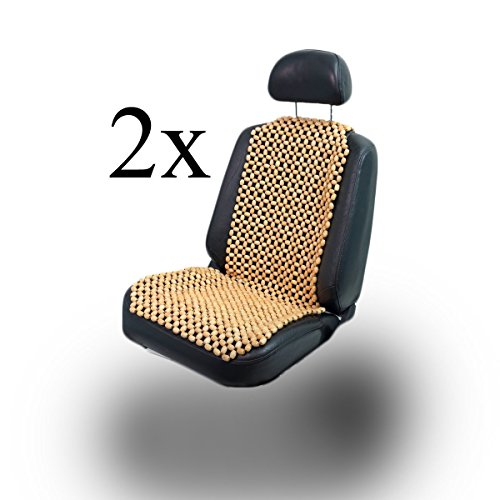 lacy - wood 2 Stück Holzkugel Holzperlen Massage Sitzauflage Sitzbezug Sitzmatte Sitzaufleger