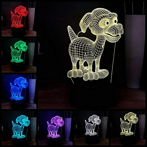 3D Turner Lampe optische Illusion Nachtlicht 7 Farbwechsel Touch Switch Tisch Schreibtisch Dekoration Lampen perfekte Weihnachtsgeschenk mit Acryl Flat ABS Base USB Spielzeug