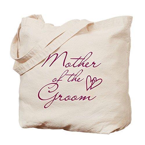 CafePress Einkaufstasche aus Segeltuch, Herz-Mutter des Bräutigams, naturfarben