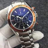 PLKNVT Marke Mens Professional Sport Taucheruhren Mode Edelstahl Orange Chronograph Armbanduhr...