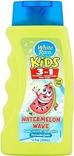White Rain Children's 3-in-1 (Body Wash, Shampoo, Conditioner) Watermelon 12 Oz (Pack of 2) by White Rain