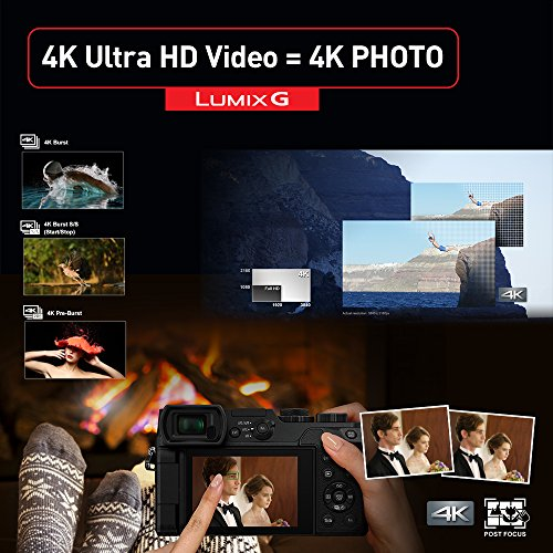 Product Image 10: Panasonic LUMIX GX85 4K Digital Camera, 12-32mm and 45-150mm Lens Bundle, 16 Megapixel Mirrorless Camera Kit, 5 Axis In-Body Dual Image Stabilization, 3-Inch Tilt and Touch LCD, DMC-GX85WK (Black)