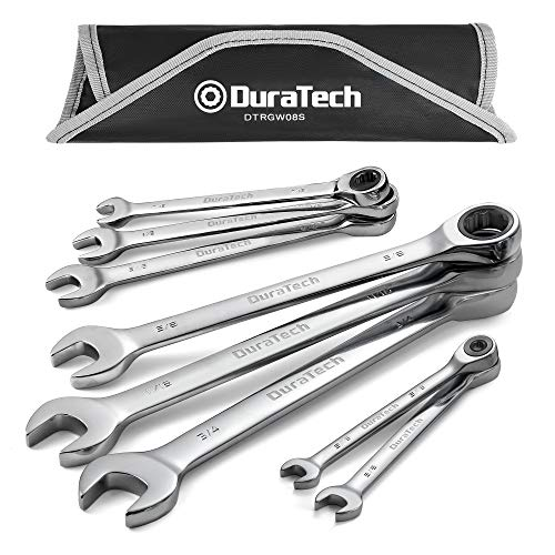 DURATECH Ratcheting Combination Wrench Set, SAE, 8-piece, 5/16