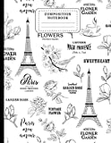 Paris Composition Notebook: Paris Notebook Vintage Eiffel Tower Wide Ruled Lined Paper Journal. Paris Gift Ideas For Women, Men, And Teen Girls 8.5x11