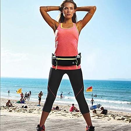 Gelentea maratona corsa cintura da corsa con portaborraccia e tasche con cerniera campeggio Arancione escursionismo ciclismo