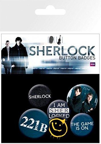 Sherlock Button Badges