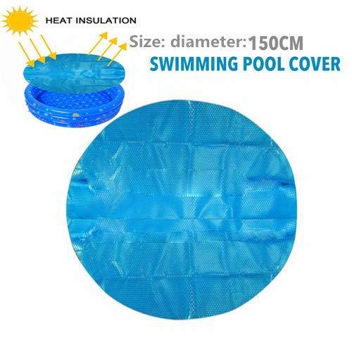 RecoverLOVE 150cm runder Pool Solarabdeckungsschutz, oberirdischer Blauer Schutzpool, Sonnenschutz-UV-Schutzpool Staubschutzabdeckung Solardecke Pool Mate