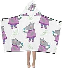 Kids Blanket for Girls Ugly Animal Hippopotamus Kids Hooded Blanket Bath Towels Throw Wrap for Toddler Child Girl Boy Home Travel Sleep Kids Nap Blanket