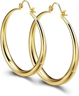 eli k Womens Gold Plate /& Crystals Large Drop Cross Hoop Lever Earrings