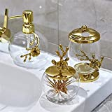 NJZYB Metal Glass Bathroom Products Pure Copper Plum Blossom Redondo Espejo Bandeja Hogar Set (Color : A, Size : As The Picture Shows)