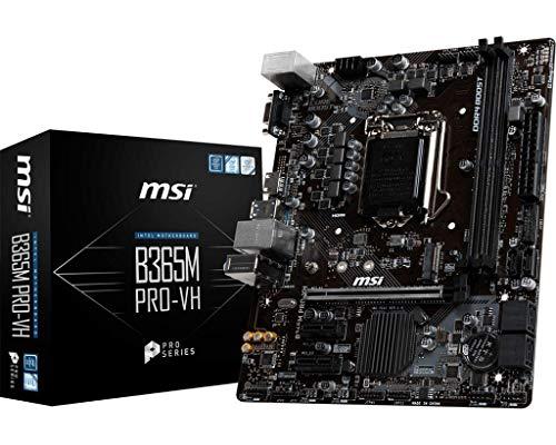 MSI ProSeries Intel B365 LGA 1151 Support 9th 8th Gen Intel Processors Gigabit LAN DDR4 USB VGA HDMI Micro ATX Motherboard (B365M PRO-VH) (B365MPROVH)