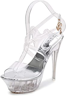 Crystal Sandals Overheight Large Size Women's Shoes