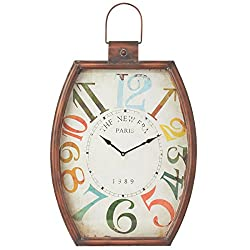 Midwest-CBK Distressed Colorful Number Wall Clock