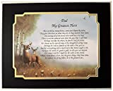 Gift For Dad 'My Greatest Hero' Sentimental Poem For Birthday Christmas On Deer Hunting Background