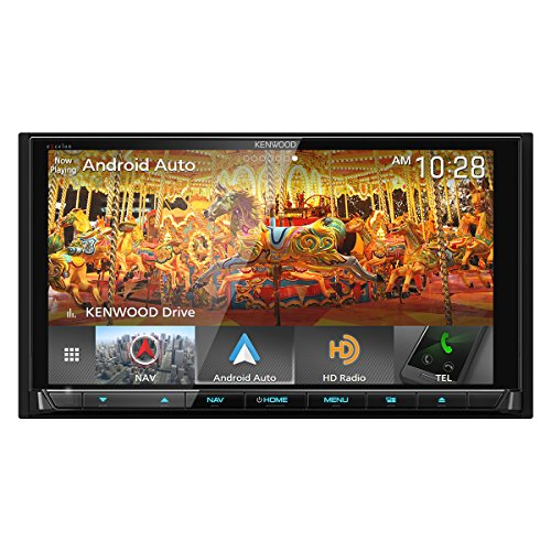 Kenwood eXcelon DNX995S 6.75 Inch DVD Navigation Receiver with CarPlay, Android Auto and...