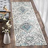 Safavieh Madison Collection MAD600C Boho Chic Glam Paisley Non-Shedding Stain Resistant Living Room Bedroom Runner, 2'3' x 8' , Cream / Light Grey