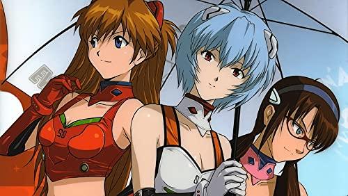 Neon Genesis Evangelion Asuka Langley Soryu Ayanami Rei Umbrella Poster...