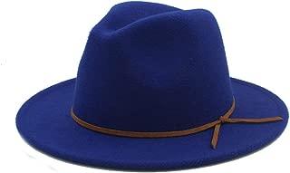 SHENTIANWEI Men Women Winter Wool Fedora Hat Dance Party Hat Wide Brim Church Fascinator Hat Casual Jazz Hat Size 56-58CM