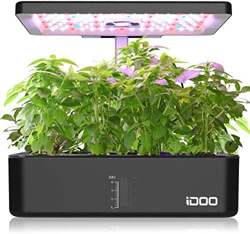 iDOO 12Pods Indoor Herb Garden Kit Hydroponics Growing System with LED Grow Light Smart Garden product image
