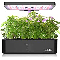 iDOO Hydroponic Smart Indoor Garden Planter System with LED Grow Light