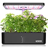 iDOO 12Pods Indoor Herb Garden Kit, Hydroponics Growing System with LED Grow Light, Smart Garden Planter for Home Kitchen, Automatic Timer Germination Kit, Height Adjustable, ID-IG301(No Seeds)