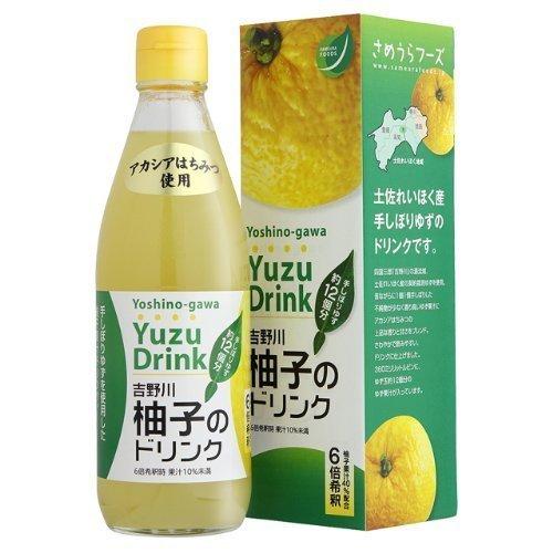吉野川柚子のドリンク 360ml×5本 さめうらフーズ 柚子の名産地・高知県れいほく産のユズを手しぼりした柚子果汁にアカシアはちみつをブレンドした希釈ドリンク さわやかなゆずの香りとやわらかな甘さ