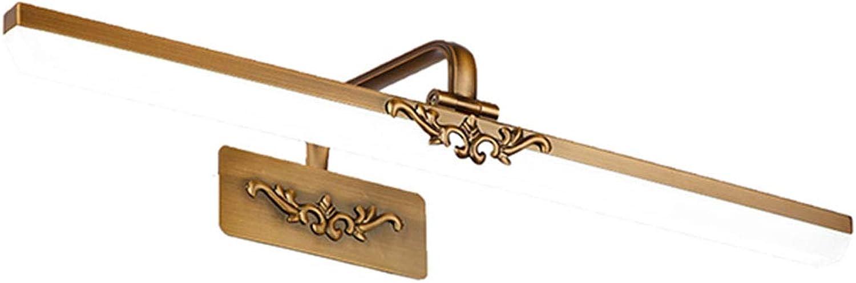 BTPDIAN Europische Spiegelscheinwerfer führten Badezimmerbadezimmerspiegelschranklampe amerikanisch (gre   51cm 10w)