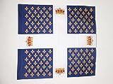 AZ FLAG Flagge KÖNIGREICH Frankreich Regiment des GARDES FRANÇAISES 1563-1789 90x90cm - FRANZÖSISCHE Infanterie Fahne 90 x 90 cm Scheide für Mast - flaggen Top Qualität