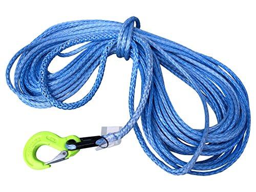 eXODA Dyneema Synthetikseil 10mm 30m mit Kausche und Haken für Seilwinden