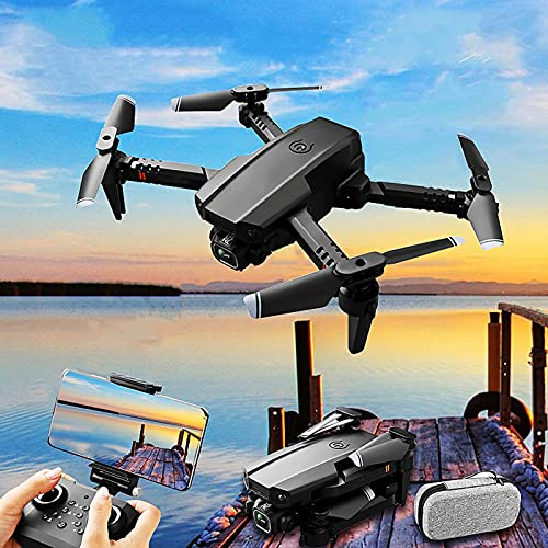 JJDSN Mini Drone Plegable con Cámara Dual 4K / 1080P HD, Retención de Altitud WiFi FPV RC Quadcopter, Modo Sin Cabeza, Control de App, 45Mins