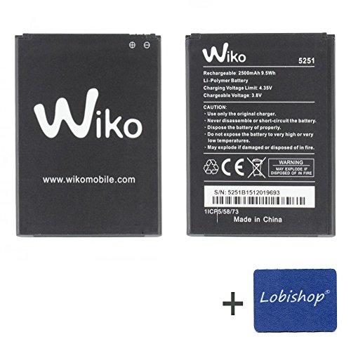 professionnel comparateur Batterie d'origine Lobishop Wiko5251 2500 mAh 9,5 Wh 3,8 V LI-Wiko Rainbow Jam 4G Polymère ou… choix